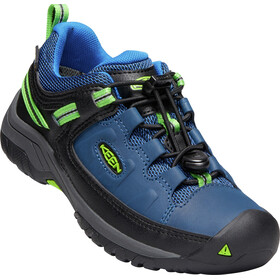 Keen Targhee Low WP Shoes Youth, blue opal/bright green